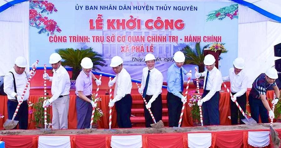 Thủy Nguyên (Hải Phòng): Khởi công công trình trụ sở cơ quan chính trị - hành chính xã Phả Lễ