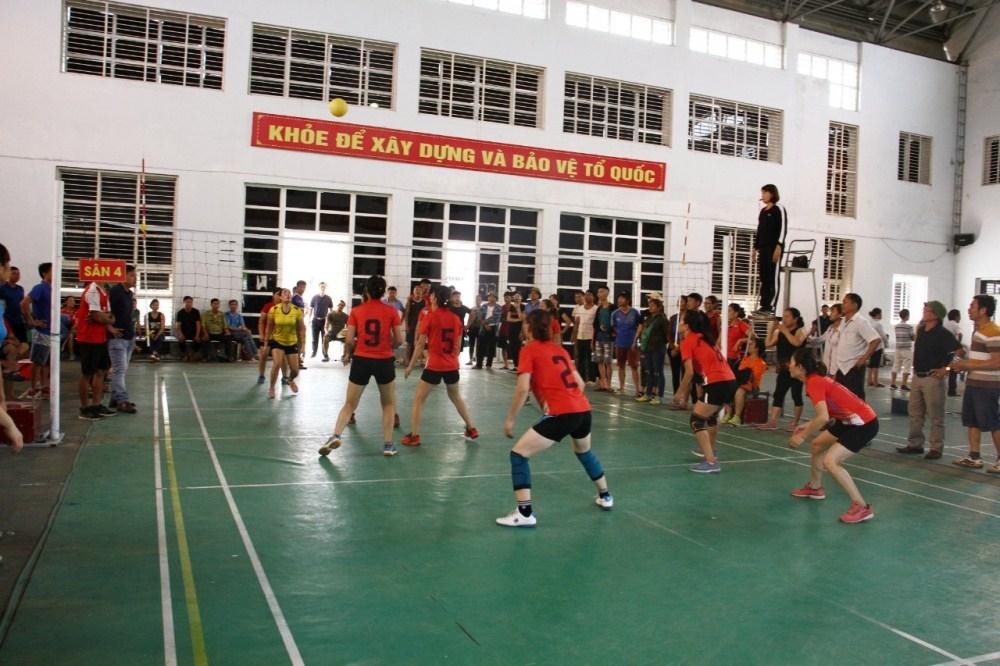 Tam Dương (Vĩnh Phúc): Tổ chức giải bóng chuyền hơi chào mừng Đại hội Đảng các cấp
