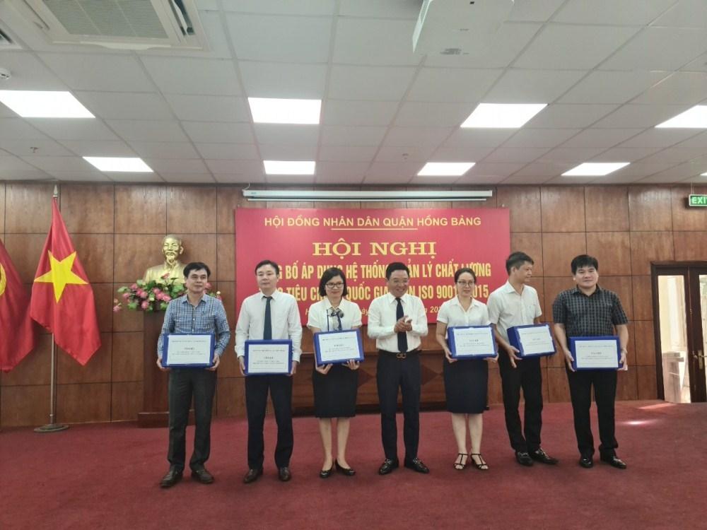 Hồng Bàng (Hải Phòng): Áp dụng hệ thống quản lý chất lượng theo tiêu chuẩn quốc gia ISO 9001:2015