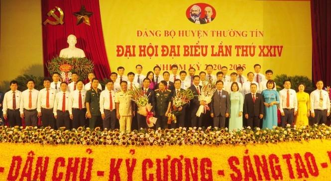 Ông Nguyễn Tiến Minh tái đắc cử Bí thư huyện Thường Tín