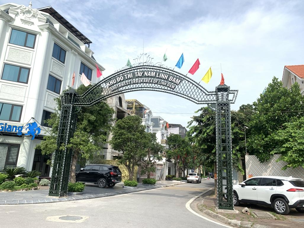 Kiên quyết xử lý tình trạng vi phạm trật tự xây dựng tại dự án Khu đô thị mới Tây Nam Linh Đàm