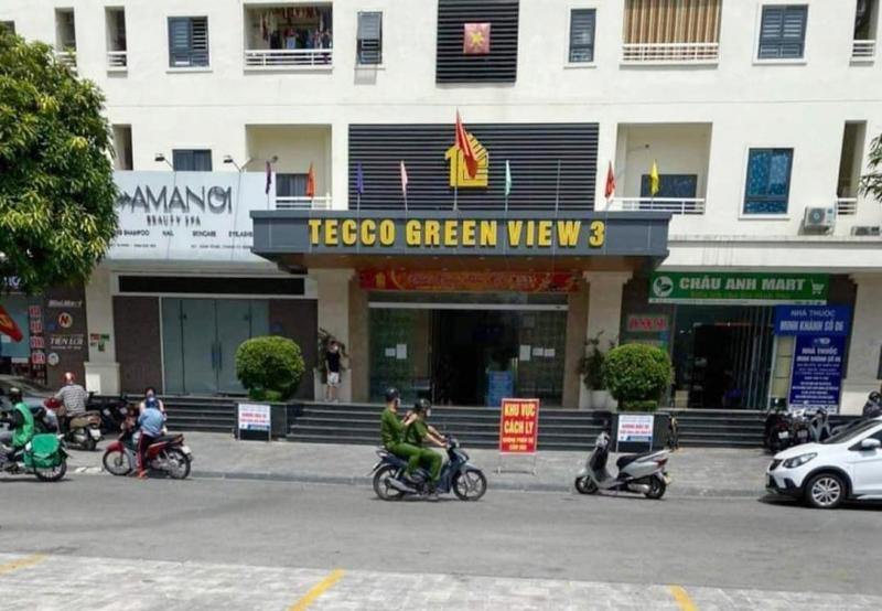 Thành phố Vinh (Nghệ An): Phong tỏa chung cư Green View 3 vì có ca nhiễm Covid-19