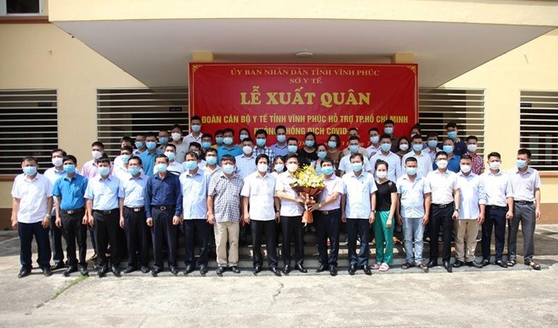 Vĩnh Phúc: 40 cán bộ y tế sẵn sàng lên đường hỗ trợ Thành phố Hồ Chí Minh chống dịch