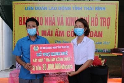 Thái Bình: LĐLĐ Thái Thuỵ hỗ trợ 3 đoàn viên nhà Mái ấm Công đoàn
