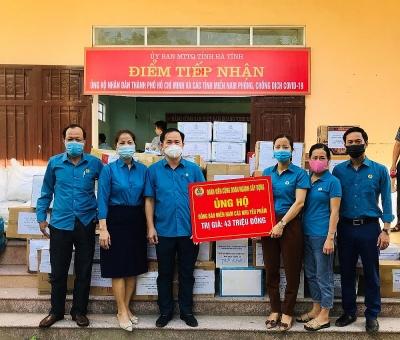 Công đoàn ngành Xây dựng Hà Tĩnh: Chung tay chia sẻ khó khăn với nhân dân miền Nam