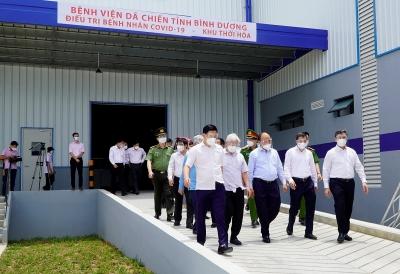 Chủ tịch nước Nguyễn Xuân Phúc: Bình Dương sớm đưa vào vận hành Bệnh viện dã chiến 5000 giường