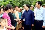 Chủ tịch nước Trương Tấn Sang động viên Quảng Ninh nỗ lực khắc phục hậu quả thiên tai
