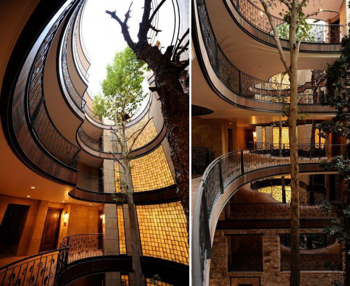 """235512baoxaydung image011 CÙng nhìn qua những thiết kế thông minh """"làm bạn"""" với cây xanh"""