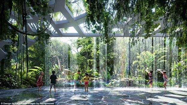 201241baoxaydung image002 Chiêm ngưỡng vẻ đẹp cỉa khách sạn rừng mưa nhân tạo đầu tiên trên thế giới