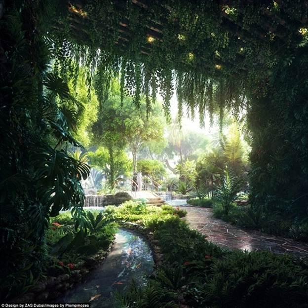 201251baoxaydung image006 Chiêm ngưỡng vẻ đẹp cỉa khách sạn rừng mưa nhân tạo đầu tiên trên thế giới