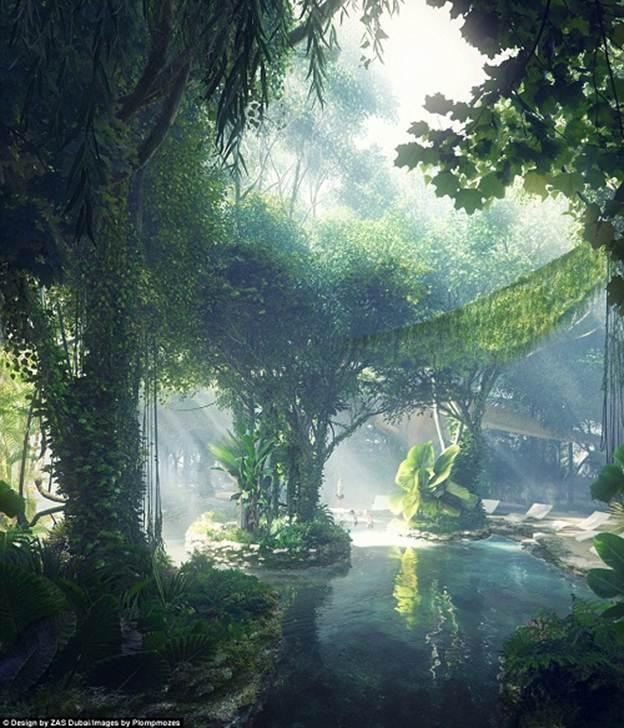 201255baoxaydung image007 Chiêm ngưỡng vẻ đẹp cỉa khách sạn rừng mưa nhân tạo đầu tiên trên thế giới