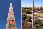 Hàng triệu chai nhựa kết thành một tòa tháp đầy cảm hứng ở Nam Phi