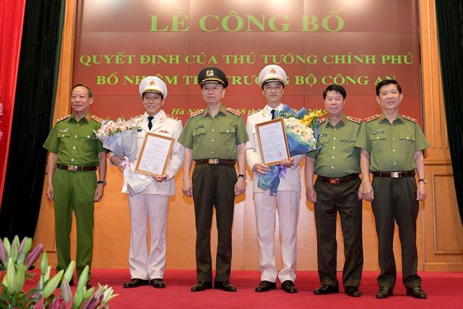 Tướng Nguyễn Duy Ngọc và Lương Tam Quang làm Thứ trưởng Bộ Công an