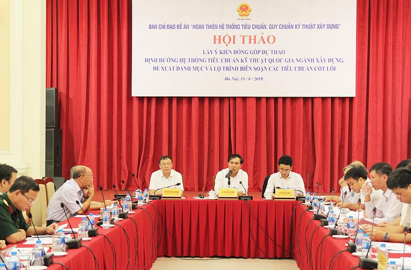Hội thảo lấy ý kiến định hướng hệ thống tiêu chuẩn kỹ thuật quốc gia ngành Xây dựng
