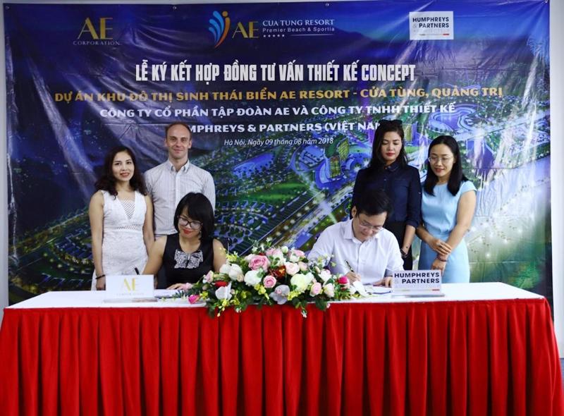 """AE Resort Cửa Tùng chính thức """"bắt tay"""" với Humphreys & Partners Architects"""