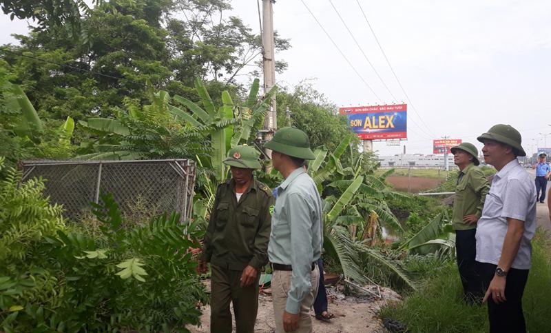 Vĩnh Phúc: Huyện Bình Xuyên ra quân giải toả vi phạm hành lang an toàn giao thông