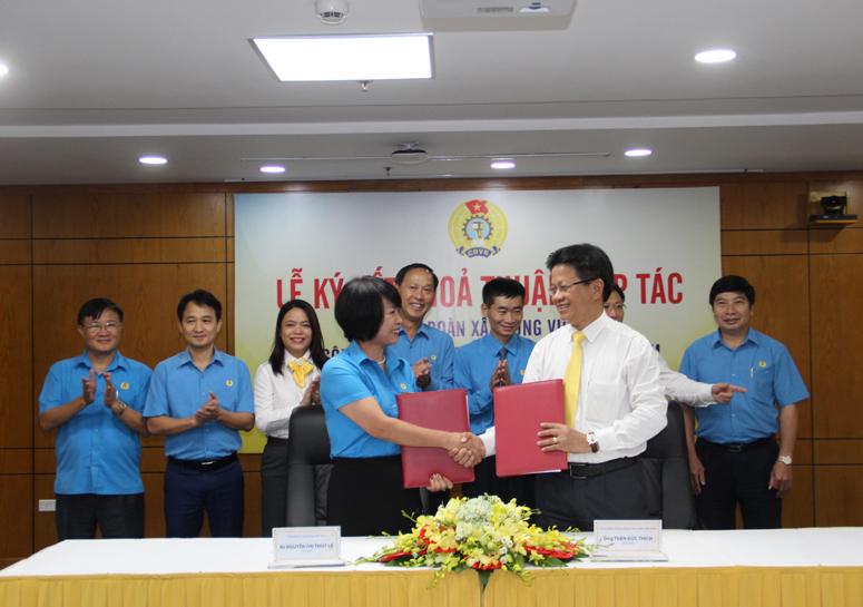 Thỏa thuận hợp tác về chương trình phúc lợi cho đoàn viên và người lao động ngành Xây dựng