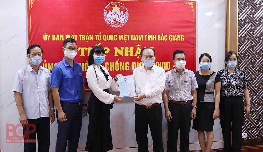Nhiều cá nhân, tập thể đồng hành cùng Bắc Giang trong cuộc chiến chống Covid-19