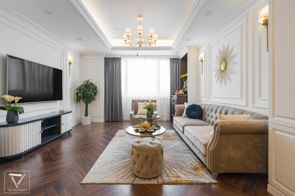 Phong cách thiết kế tân cổ điển mang đến sự sang trọng cho căn hộ