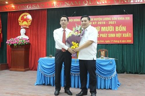 Hòa Bình: Ông Nguyễn Văn Danh đắc cử chức Chủ tịch UBND huyện Lương Sơn