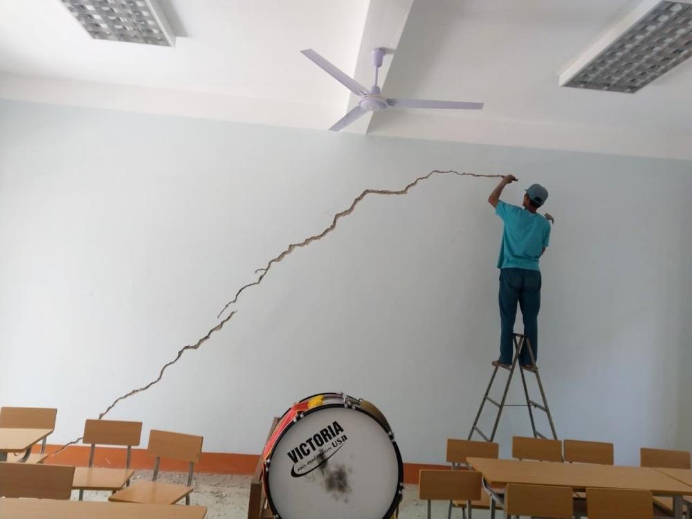 Quảng Bình: Công trình trường học hơn 5 tỷ đồng vừa bàn giao đã xuất hiện nhiều vết nứt