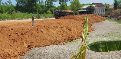 Thừa Thiên – Huế: Kiểm tra, lập biên bản đình chỉ thi công san lấp trái phép trên đất nuôi trồng thủy sản