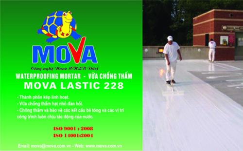 Vữa chống thấm Mova Lastic 228: Triệt tiêu thấm dột