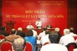 Các chuyên gia đóng góp ý kiến vào Dự thảo Luật Xây dựng sửa đổi