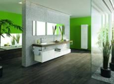 104731baoxaydung image002 Thiết kế làm mới nội thất phòng tắm bằng gam màu xanh mát