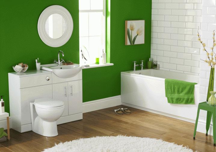 104731baoxaydung image005 Thiết kế làm mới nội thất phòng tắm bằng gam màu xanh mát