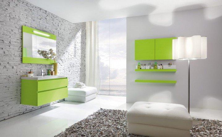 104732baoxaydung image008 Thiết kế làm mới nội thất phòng tắm bằng gam màu xanh mát