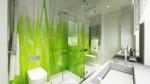 Làm mới nội thất phòng tắm bằng gam màu xanh mát