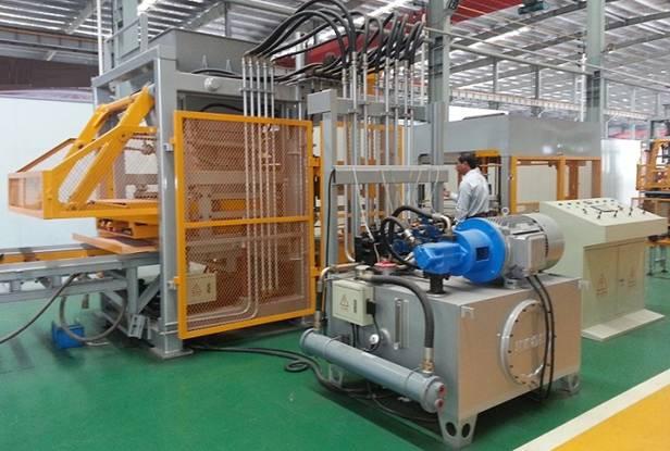Sản xuất gạch không nung bằng công nghệ ép rung