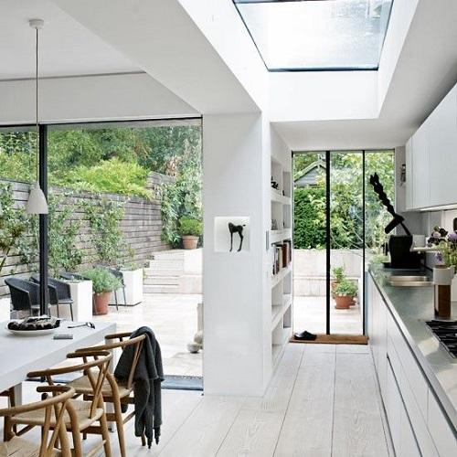 153032baoxaydung image001 Ý tưởng thiết kế giếng trời cho căn bếp sang trọng