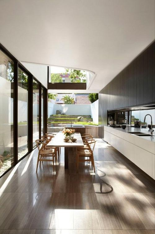 153032baoxaydung image002 Ý tưởng thiết kế giếng trời cho căn bếp sang trọng