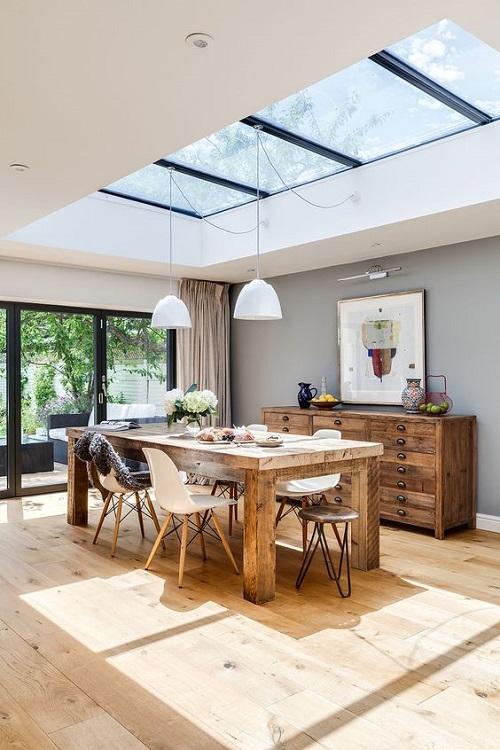 153033baoxaydung image005 Ý tưởng thiết kế giếng trời cho căn bếp sang trọng