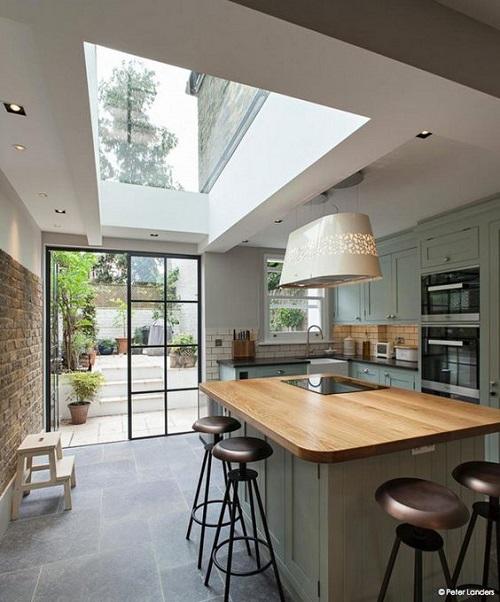 153034baoxaydung image008 Ý tưởng thiết kế giếng trời cho căn bếp sang trọng