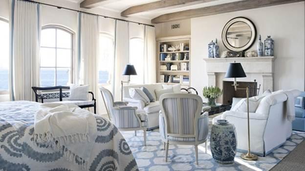 192738baoxaydung image002 Thiết kế ngôi nhà không lỗi mốt với gam nội thất màu xanh và trắng