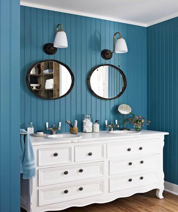 192747baoxaydung image006 Thiết kế ngôi nhà không lỗi mốt với gam nội thất màu xanh và trắng