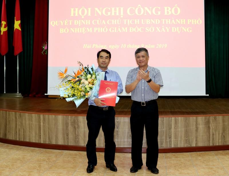 Bổ nhiệm ông Nguyễn Minh Tuấn giữ chức vụ Phó Giám đốc Sở Xây dựng Hải Phòng