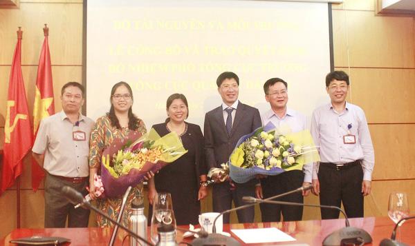 Bổ nhiệm 2 tân Phó Tổng Cục trưởng Quản lý đất đai