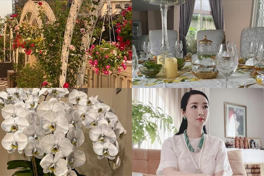 Biệt thự sang trọng như một khu vườn hoa cổ tích của hoa hậu Giáng My