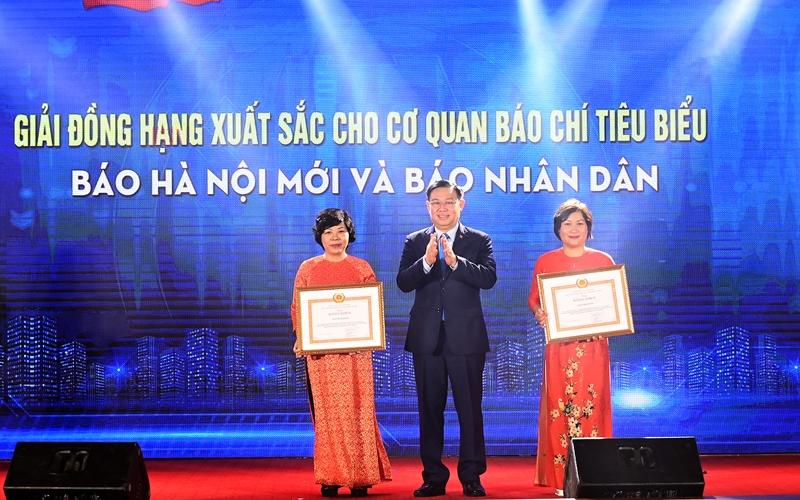 Hà Nội: Trao thưởng hai giải báo chí về xây dựng Đảng và phát triển văn hóa năm 2020