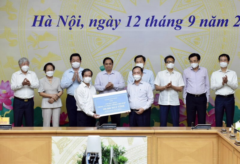 bidv ung ho 25 ty dong thuc hien chuong trinh song va may tinh cho em