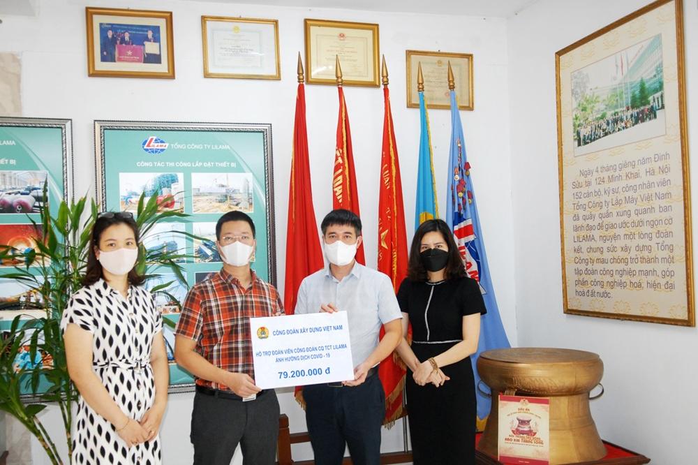 Công đoàn Xây dựng Việt Nam hỗ trợ người lao động Lilama bị ảnh hưởng bởi dịch Covid-19