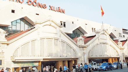 Chợ Đồng Xuân biểu tượng phố cổ Hà Nội