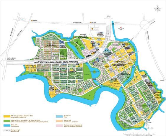 Mặt bằng tổng thể Khu đô thị mới Phú Mỹ Hưng.