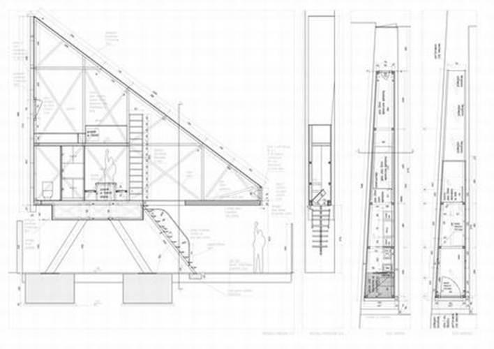 084925baoxaydung image007 Mẫu thiết kế độc đáo cho ngôi nhà chỉ có mặt tiền 1,22m
