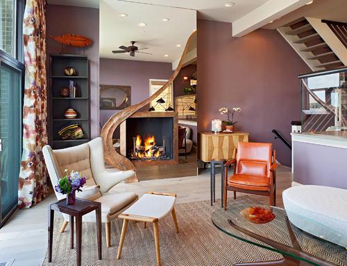 183034baoxaydung image002 Thiết kế nhà phòng khách hiện đại với gương trang trí