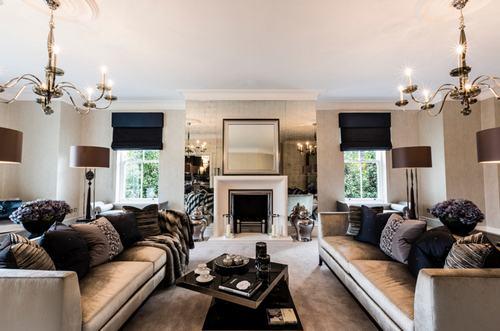 183042baoxaydung image013 Thiết kế nhà phòng khách hiện đại với gương trang trí